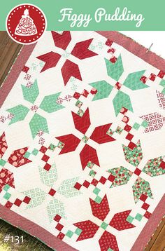 FREE Figgy Pudding quilt pattern by Vanessa Goertzen of Lella Boutique. Fabric is Into the Woods for Moda.