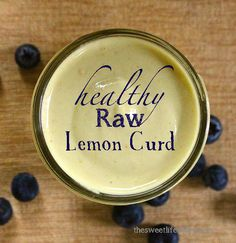 http://livesuperfoods.com Raw lemon curd. Use it on blueberry oatmeal waffles, jazz up your raw breakfast crepes. Fill a raw tart shell and top with berries or spread between the layers of a lemon pound cake.