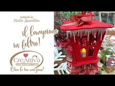 Realizziamo un lampione in feltro dalla lanterna - YouTube Christmas Bulbs, Christmas Crafts, New Years Eve Party, Nifty, Kids Crafts, Table Decorations, Holiday Decor, Singer, Youtube