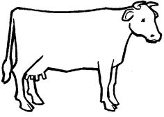 Cows With Long Tail Coloring Pages For Kids Printable
