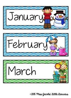Months of the Year by Miss Jacobs' Little Learners Classroom Rules Poster, Classroom Charts, Classroom Calendar, Kids Calendar, Blank Calendar, Preschool Weather, Preschool Activities, Preschool Plans, Chevron Classroom