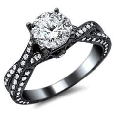 black gold wedding rings for women | Wedding Inspiration