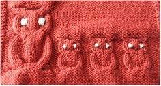 How to Knit Owls Large or Small Tute