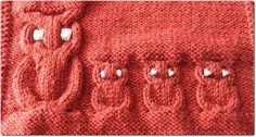Le but de cet article est de vous permettre de tricoter des hiboux de petite et grande tailles. La légende des diagrammes est la suivante : un point endroit sur l'endroit ou un point envers sur l'envers un point envers sur l'endroit ou un point endroit...