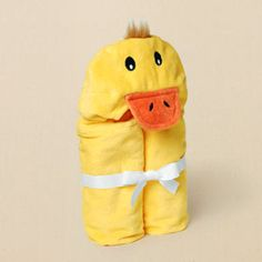 children's place duck towel. for inspiration on my 1/2 made hooded towel