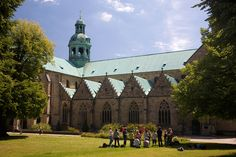 St. Mary's Cathedral and St. Michael's Church at Hildesheim, Germany.