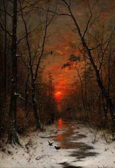 Heinrich Gogarten ~Zapad Slnka Nad Zimnym Lesom