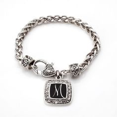 My Script Initials Classic Braided Bracelet