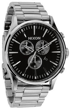 Nixon Sentry Chrono Black (Quartz). $299 on Watchismo
