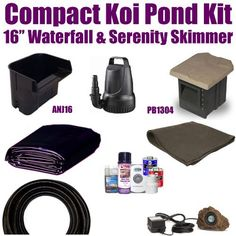 """15 x 15 Compact Pro Koi Pond Kit 1,200 GPH Pump Anjon 16"""" Waterfall & Pondbuilder 6"""" Skimmer XSH3 by Patriot. $565.00. 15 x 15 EPDM LifeGuard Liner (lifetime warranty-25 Years) and 225 Square Feet of Underlayment, Anjon 16"""" Waterfall & Pondbuilder 6"""" Skimmer PB1304, & 1,200 GPH Pump Anjon FL1200. Liftgate Service is Not Included. Contact Carrier For Liftgate Service Which Is An Additional $85.00. 1½"""" x 25' Kink Free Pond Hose, (1) 20 Watt Rock Lights with 20 Watt Transformer, ..."""