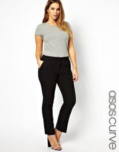 Image 1 - ASOS CURVE - Pantalon à poches passepoilées
