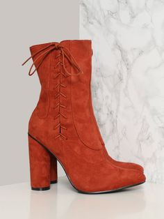 Straight Laced Bootie - Rust - Gypsy Warrior