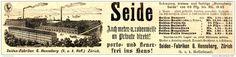 Original-Werbung/ Anzeige 1897 - SEIDE / SEIDEN - FABRIKEN / HENNEBERG - ZÜRICH - ca. 190 x 45 mm