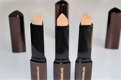 Hourglass Vanish Foundation Stick Review & Swatches - Shades: Porcelain, Vanilla & Shell