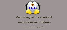 Zabbix agent installation and monitoring on windows