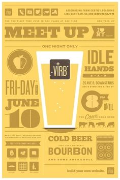 Ryan vs. Clark | Design & Illustration | Virb Meet-Up Poster