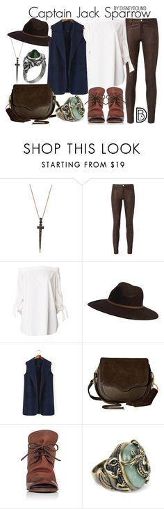 """""""Captain Jack Sparrow"""" by leslieakay ❤ liked on Polyvore featuring Bee Goddess, L'Agence, TIBI, Billabong, Rebecca Minkoff, Marsèll, disney, disneybound and disneycharacter"""