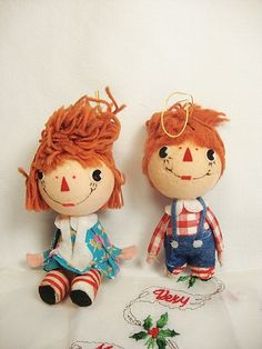 vintage raggedy ann and andy christmas by PeppermintPixies on Etsy,