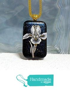 22kt Gold and White Iris Fused Dichroic Glass Pendant Necklace with Gold Plated Bail Ready to Ship A2938 from Lolas Glass Pendants http://www.amazon.com/dp/B015Y39XWS/ref=hnd_sw_r_pi_dp_.kfLwb0TBV388 #handmadeatamazon