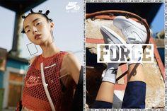 NIKE AIR FORCE 35 YEARS CAMPAIGN CHINA EDITION (Nike) Nike Air Force, Nike Campaign, Nike Poster, Nike Ad, Logos Retro, Campaign Fashion, Fashion Advertising, Portfolio, Poses