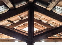 Wooden roof in Rome.