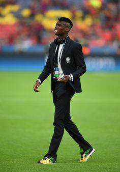 Paul Pogba of Juventus walks on the pitch prior to the UEFA Champions League Final between Juventus and FC Barcelona at Olympiastadion on June 6, 2015 in Berlin, Germany.