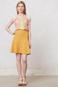 Addie Skater Skirt #anthropologie