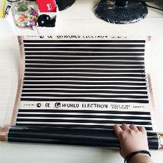 [ $81 OFF ] 8M2 220W/m2 Electric Floor Heating Electric Infrared Film Temperature Low Electrical Carbon Heating Film Warm Floor Mat