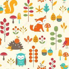colourful fox pattern - Google Search