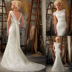 Shorten, and make into an evening dress (diff color obviously)... Sweetheart Cap Sleeve Lace Wedding dresses in dubai (LG50102)