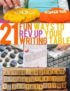 21 Fun Ways to Increase Interest in Your Writing Table