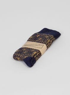 Couverture and The Garbstore - Mens - Anonymous Ism - Indigo Pattern Crew Socks