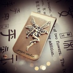 NEW  Titania Money Clip  Fairy Stamping Made in by blackpersimmons, $18.00