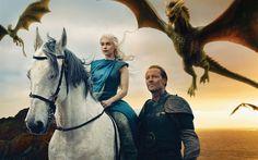 Scarica sfondi Game of Thrones, 2017, Stagione 7, Emilia Clarke, Daenerys Targaryen, Kit Harington, Jon Snow