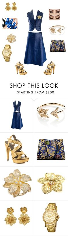 """""""party party til you drop"""" by bebejohnson ❤ liked on Polyvore featuring Jean Patou, EF Collection, Michael Antonio, Tory Burch, Van Cleef & Arpels, Oscar de la Renta and Roberto Cavalli"""