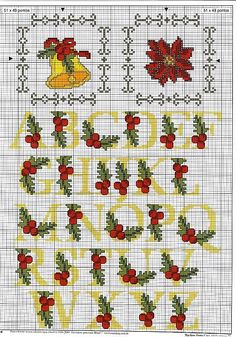 Brilliant Cross Stitch Embroidery Tips Ideas. Mesmerizing Cross Stitch Embroidery Tips Ideas. Christmas Cross Stitch Alphabet, Xmas Cross Stitch, Cross Stitch Letters, Cross Stitching, Cross Stitch Embroidery, Hand Embroidery Patterns, Stitch Patterns, Quilting, Crossstitch