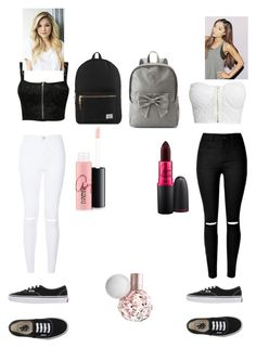 """Untitled #46"" by amber-blehm on Polyvore featuring NLY Trend, Pilot, Vans, Candie's, Herschel Supply Co., MAC Cosmetics, women's clothing, women, female and woman"