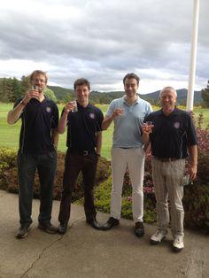 A wee dram after a good days golfing...