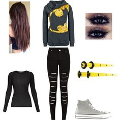Untitled #31 by nattyrose2002 on Polyvore featuring polyvore fashion style BCBGMAXAZRIA Converse