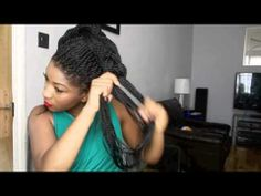 Cute Updo with Box braids