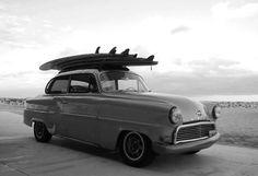 old school surf car