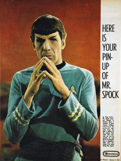 Spock' The great Spock of Star Trek crew. Star Trek Crew, Star Trek Tv, Star Wars, Star Trek 1966, Star Trek Images, Star Trek Characters, Star Trek Original Series, Leonard Nimoy, Star Trek Universe