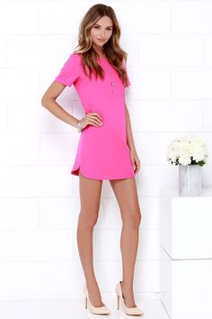 Totally just ordered this dress...loving the hot pink these days....