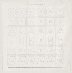 Sol LeWitt, Geometric figures within geometric figures, 1976