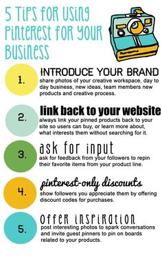 5 Tips for using Pinterest for your business | via @borntobesocial
