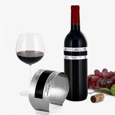 KCASA LCD Stainless Steel Wine Bracelet Thermometer Creative Wine Thermometer at…