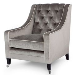 Contemporary Deep Buttoned Armchair