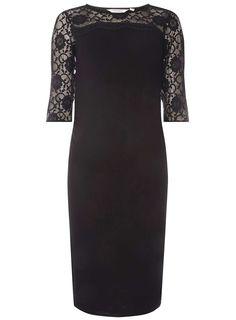 cc369235ec299 Dorothy Perkins #Maternity #Black Lace Yoke Bodycon #Dress £26