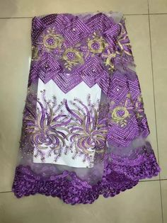Find More Lace Information about TS 13 Purple Nigerian embroidery lace applique,Noble beaded tulle nigerian wedding lace fabric for bridal dress,High Quality african french lace fabric,China french lace fabric Suppliers, Cheap french lace from Freer on Aliexpress.com