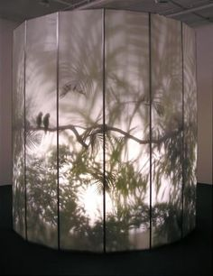 Rachel Berwick - 'May-por-e' 1997 Translucent walls. Casting shadows from a light within. Projecting images